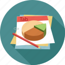 analytics, chart, graph, notes, pie chart, report, statistics icon