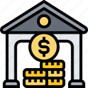 holding, company, assets, bank, investment icon