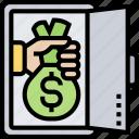 deposit, vault, reserves, budget, capital