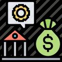 institute, npl, loan, monetary, bank icon