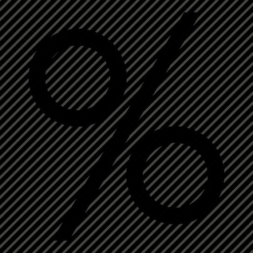 finance, percent, percentage icon