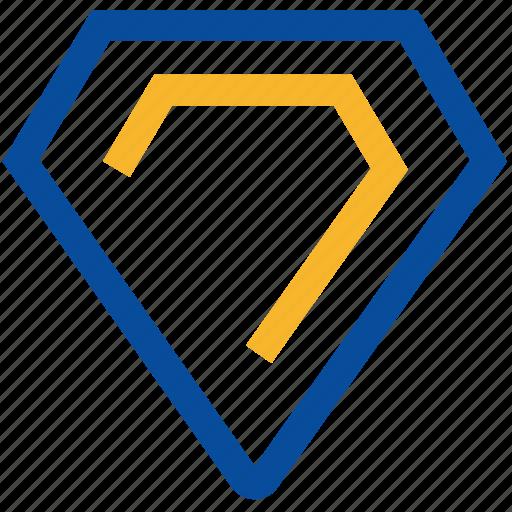 diamond, economic, financial, grade icon