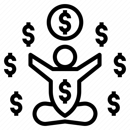 Finance, freedom, man, money, passive icon - Download on Iconfinder