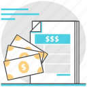 cash, financial, invoice, management, money, order icon