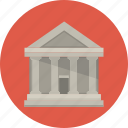 account, bank, building, money icon