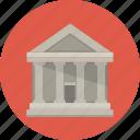 account, bank, building, money icon