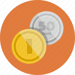 coins, money, payment icon