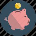 piggy bank, money, coin, saving, pig