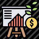 board, business, financial, growth, presentation icon