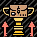 achievement, business, profit, success, trophy