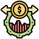 control, financial, operation, solution, tactic icon
