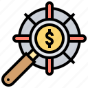 center, focus, performance, strategy, target icon