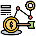 financial, goal, strategy, challenge, aiming icon