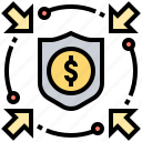 insurance, investment, protection, secure, shield icon