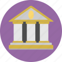 bank, building, establishment, finance, money icon