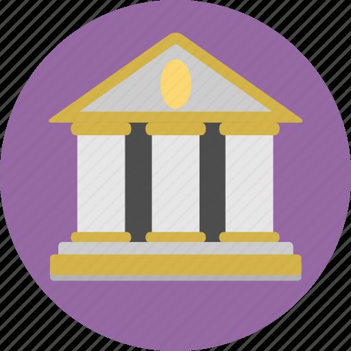 bank, building, establishment, finance, money icon