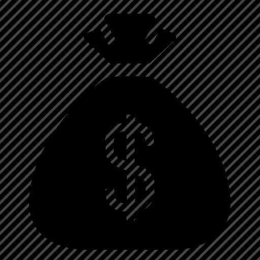 bag, budget, cash, dollar, finance, money, money bag icon