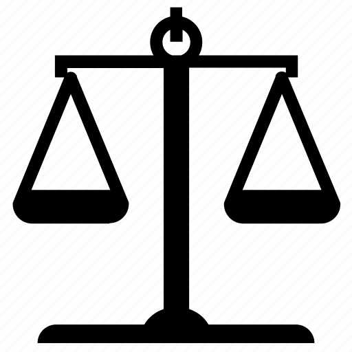 equality, justice, law, law scale, legal, scale, weight icon