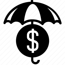 dollar, financial, insurance, money, protection, security, umbrella icon