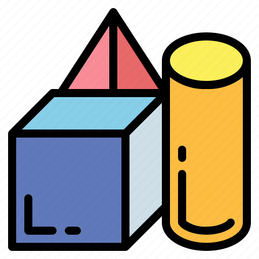 cube, geometrical, shapes, squares icon