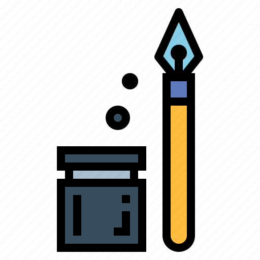 ink, pen, writing icon