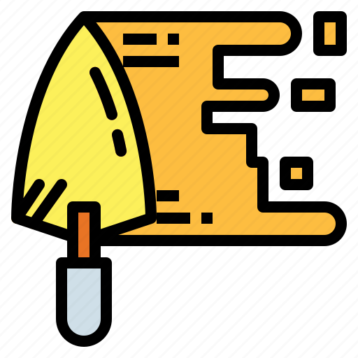 construction, equipment, tool, tools, trowel icon