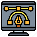 graphic, pen, tool icon