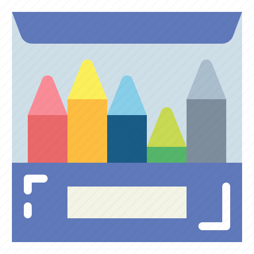 crayon, crayons, draw, paint icon