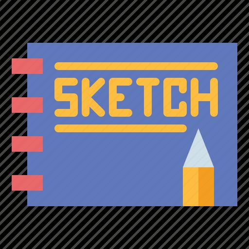 drawing, notebook, pencil, sketch icon