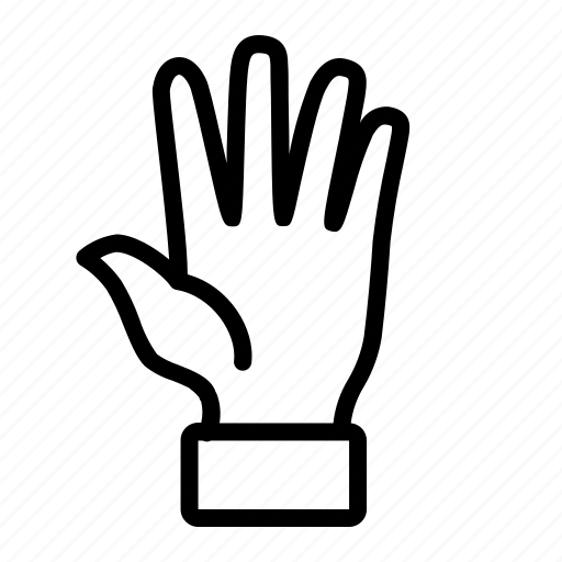 fifth, finger, five, hand icon