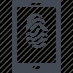 biometric, fingerprint, scan, security icon