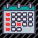 calendar, finance, holiday, news icon