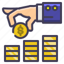 dollar, finance, invest, investment, saving icon