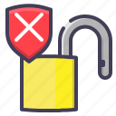 ubsafe, unlock, unlocked, unprotected, unsecure icon