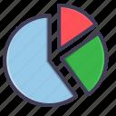 analysis, analytics, chart, pie chart, satistic icon