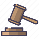 auction, court, hammer, judge, justice icon