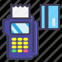 cart, credit, debt, machine, payment icon