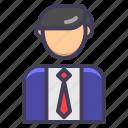 accountant, banker, businessman, finance, man, successful icon