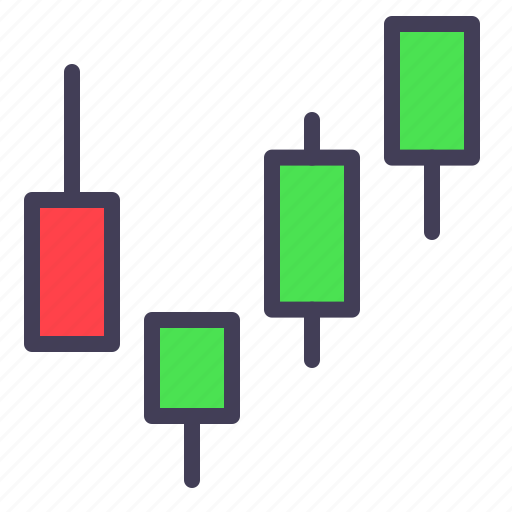 candlestick, forex, market, stock, trading icon