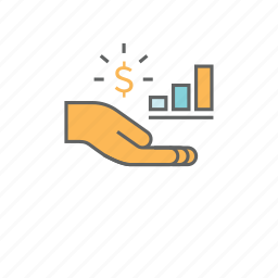 business, chart, finance, growth, investment, money, profit icon