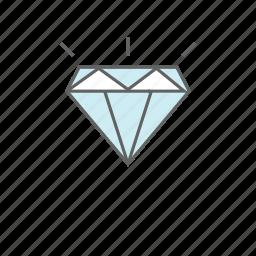 diamond, ecommerce, gem, luxury, stone, value, wealth icon