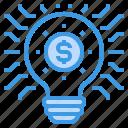 finance, fintech, idea, innovation, money, technology icon