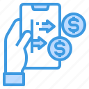 finance, fintech, mobile, money, payment, technology icon