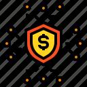 finance, fintech, insurance, money, technology icon
