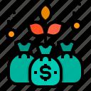 bag, finance, fintech, growth, market, money, technology icon
