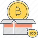 bitcoin, cryptocurrency, ico, initial coin offering icon