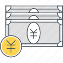 japanese, japanese yen, yen icon