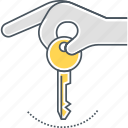 key, lease, leasing icon
