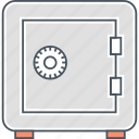 safe box, safety box, security vault, vault icon