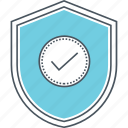 checked, protected, protection, secure, secured, shield, verified icon